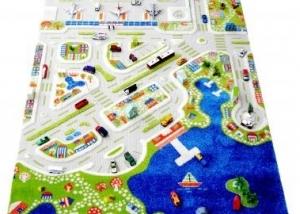 City Teppich Spielteppich straßenteppich kinderteppichland