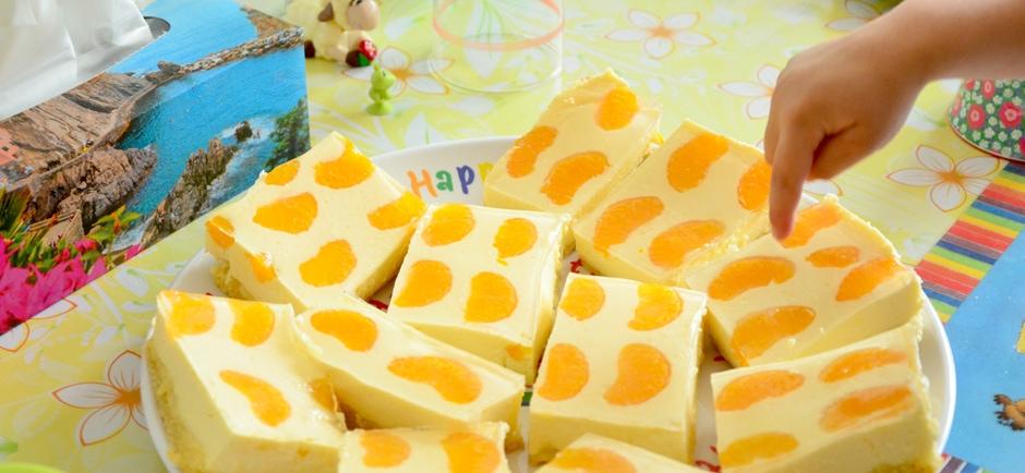 quark mandarinen blechkuchen rezepte baby kind und meer. Black Bedroom Furniture Sets. Home Design Ideas