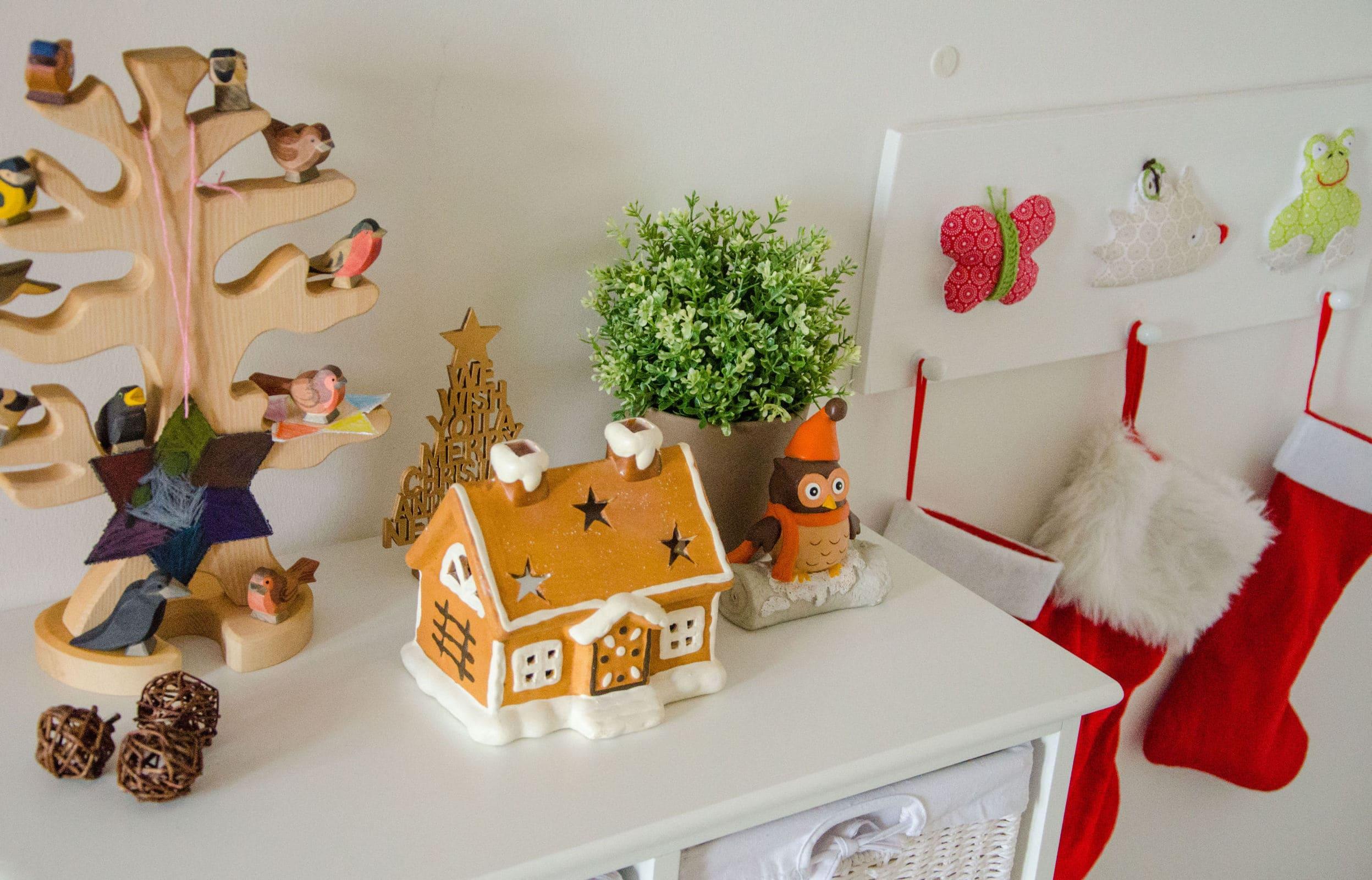 Unsere weihnachtsdeko kinderzimmer co familie baby for Weihnachtsdeko kinderzimmer