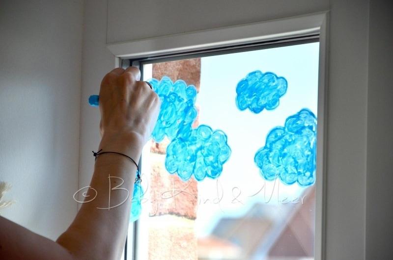 Unser langes mai wochenende familienleben baby kind - Fenster bemalen ...