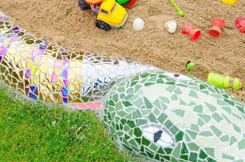 Mosaik Schlange fertig