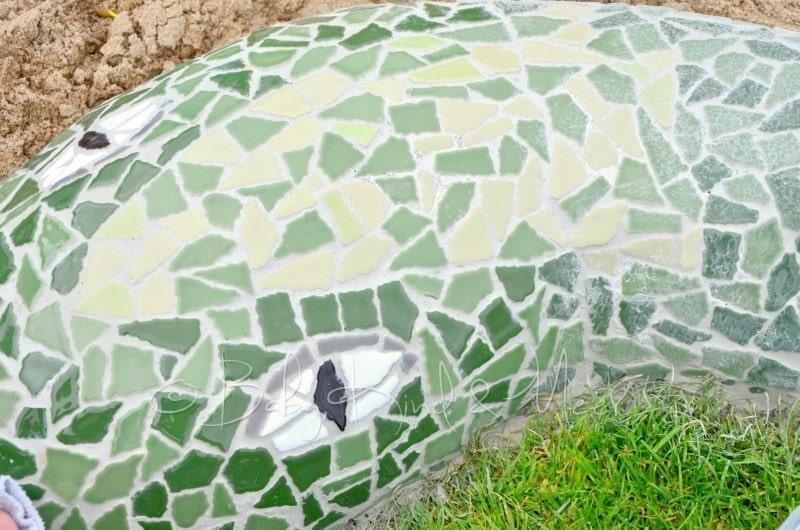 Mosaik Schlange polieren (2)