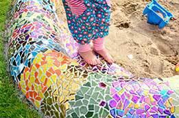Mosaic sandpit