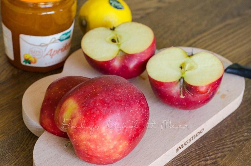 Apfel-Rosen backen