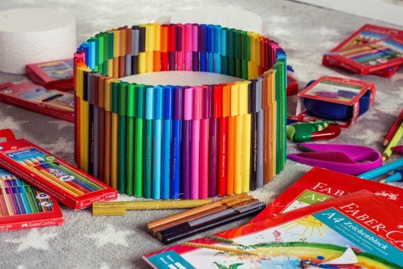 Torte aus Stiften