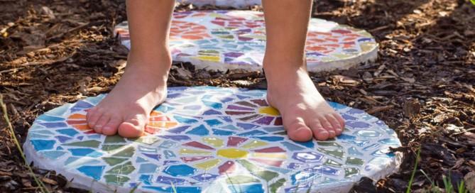 Mosaik Gehwegplatten