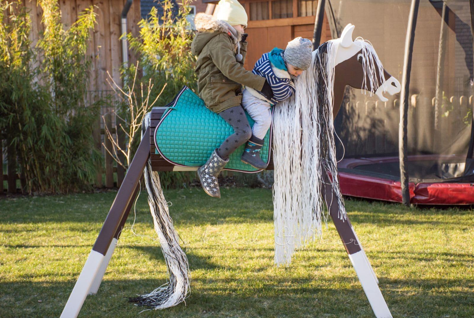ein holzpferd fÜr den garten - spielzeug, hausbau & garten, deko