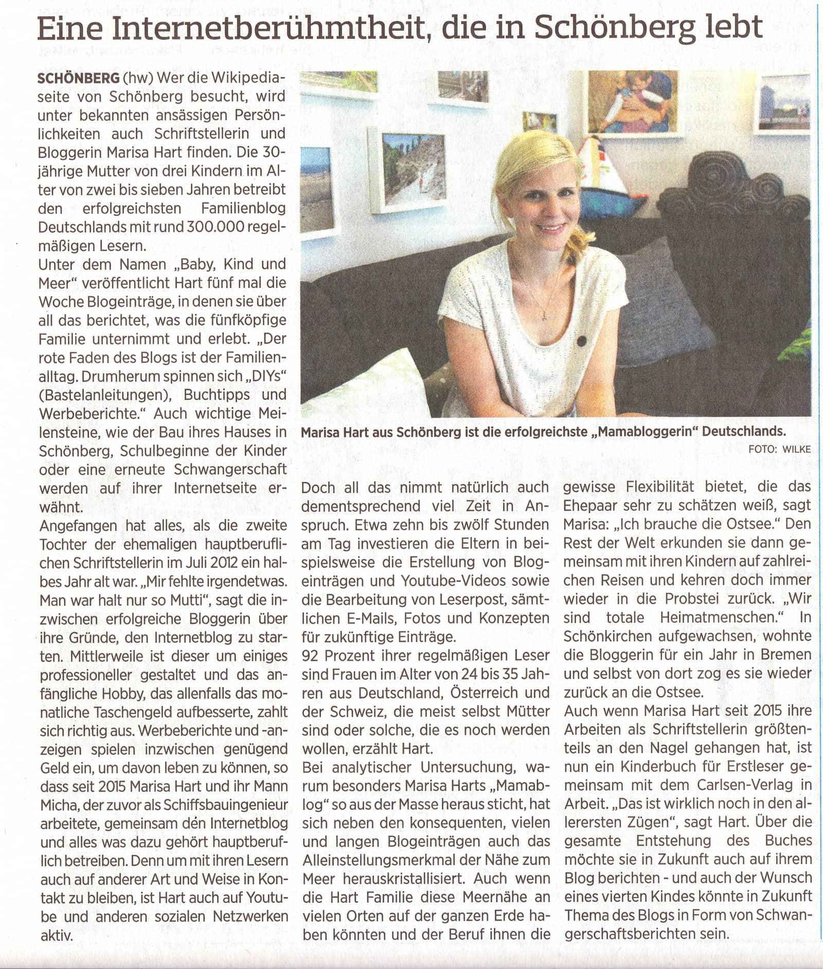 20170616 Probsteier Herold Eine Internetberühmtheit Die In Schönberg Lebt