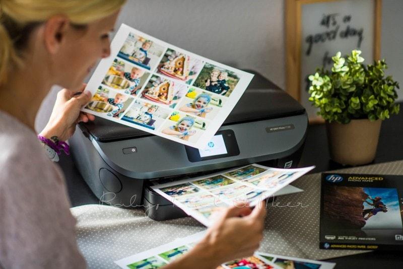 Fotomemory Basteln Mit HP Drucker 1
