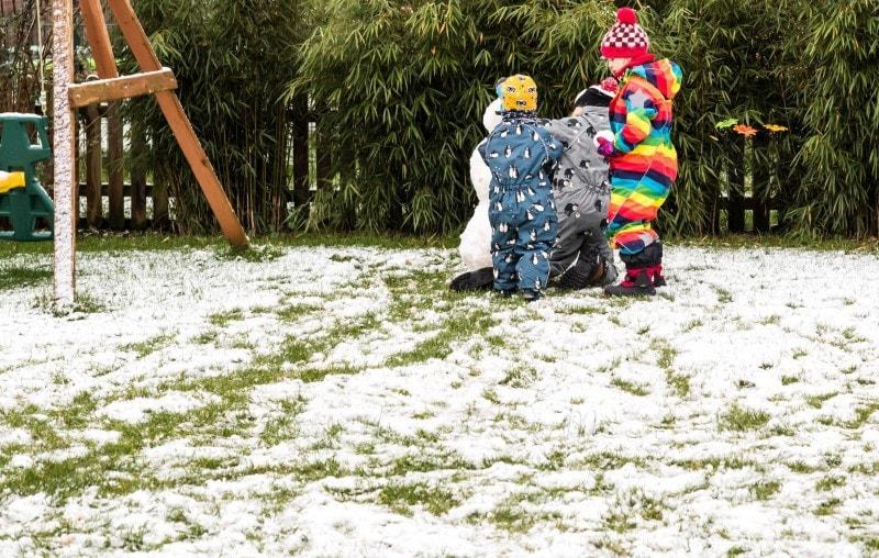 erster Schnee im Garten 1