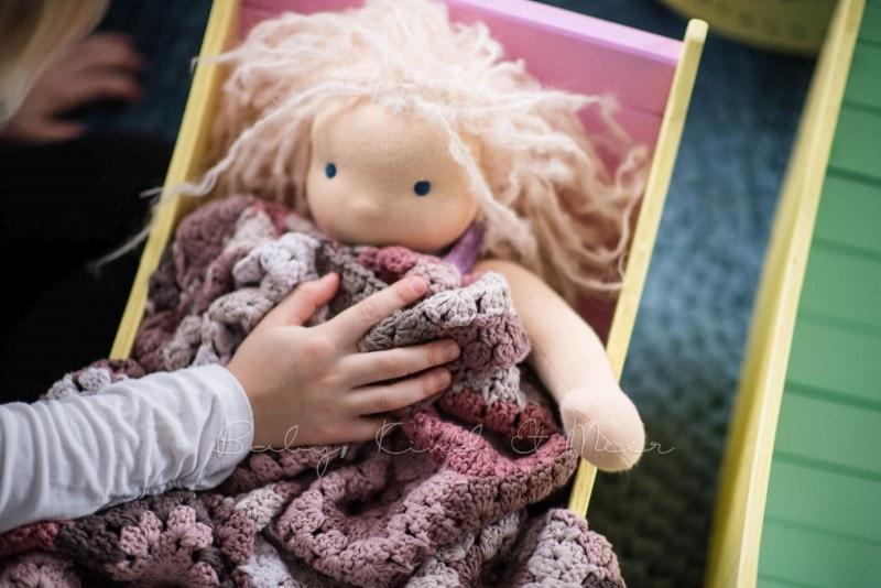 Puppenbett bauen 1