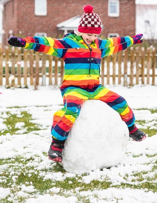 Schnee im Garten 1
