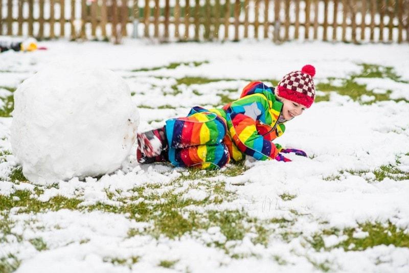 Schnee im Garten 2