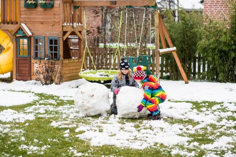 Schnee im Garten 4