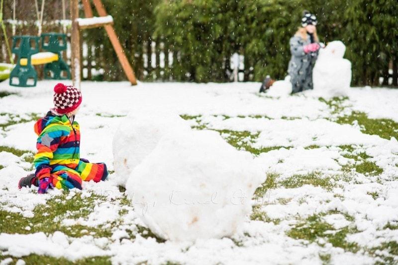 Schnee im Garten 7