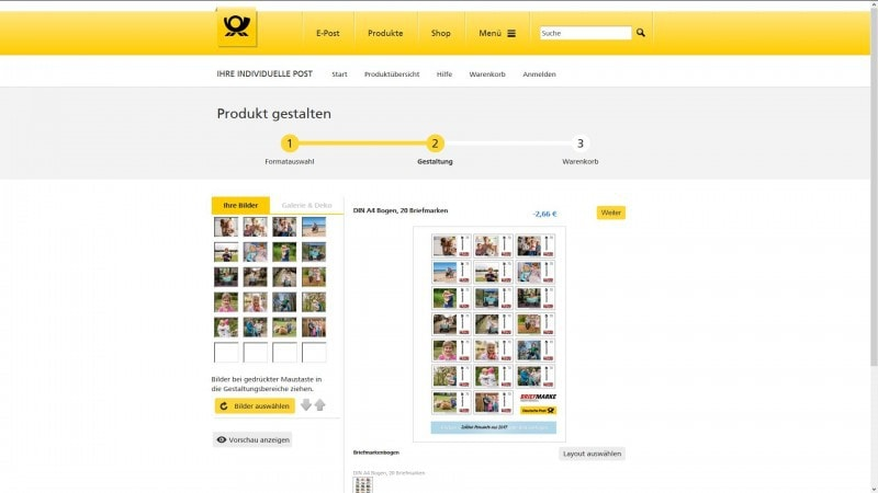 Deutsche Post individuelle Briefmarke 2