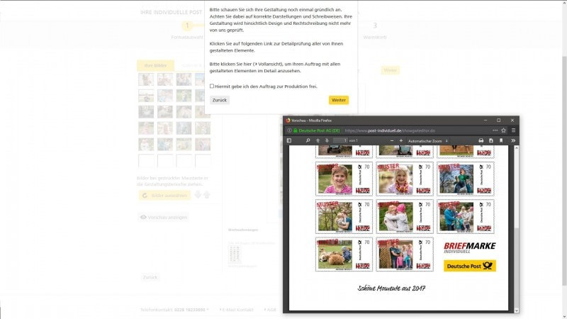 Deutsche Post individuelle Briefmarke 3