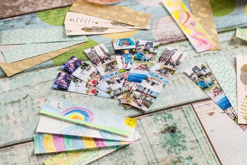 Lesezeichen basteln individuelle Briefmarke deutsche Post 10