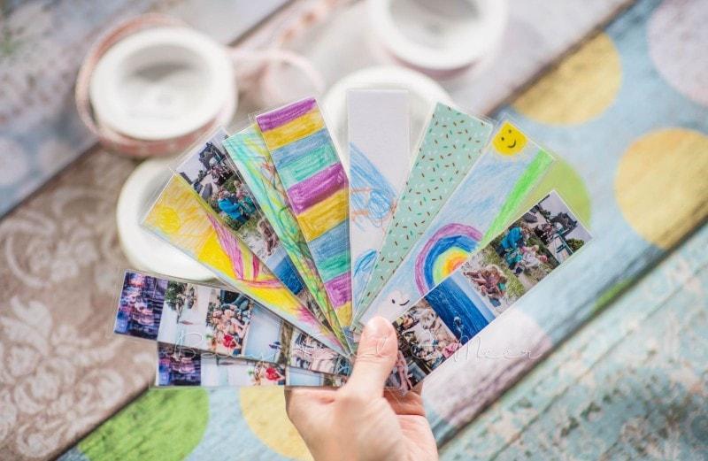 Lesezeichen basteln individuelle Briefmarke deutsche Post 12