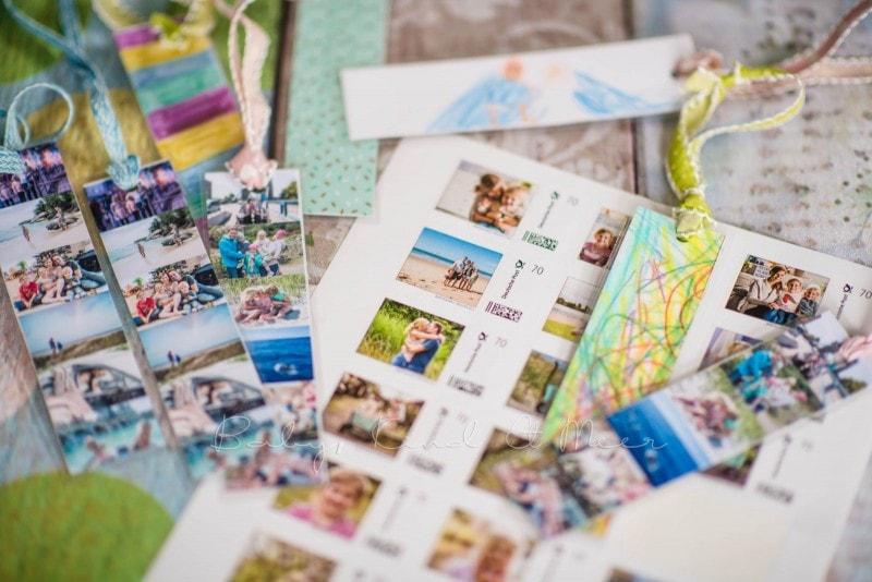 Lesezeichen basteln individuelle Briefmarke deutsche Post 14