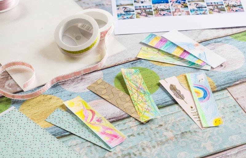 Lesezeichen basteln individuelle Briefmarke deutsche Post 8