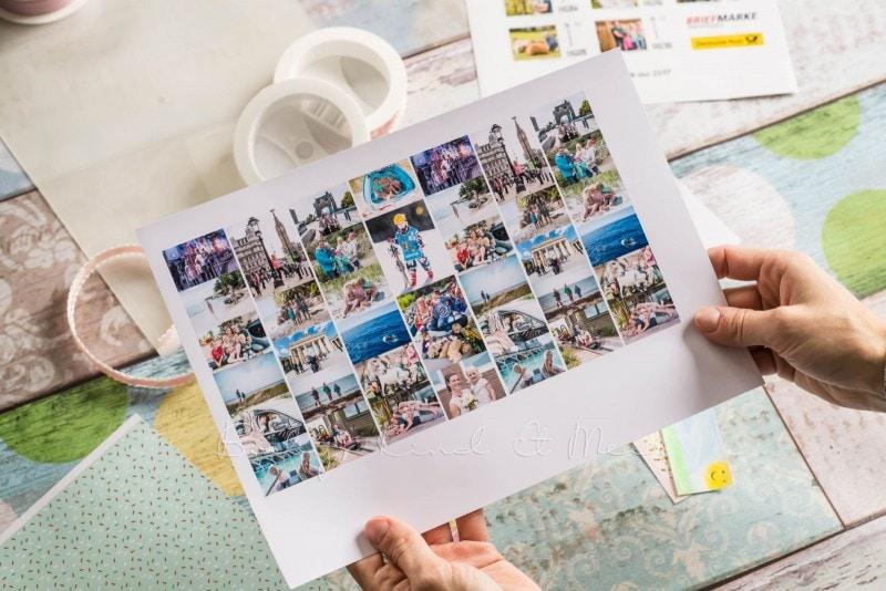 Lesezeichen basteln individuelle Briefmarke deutsche Post 9