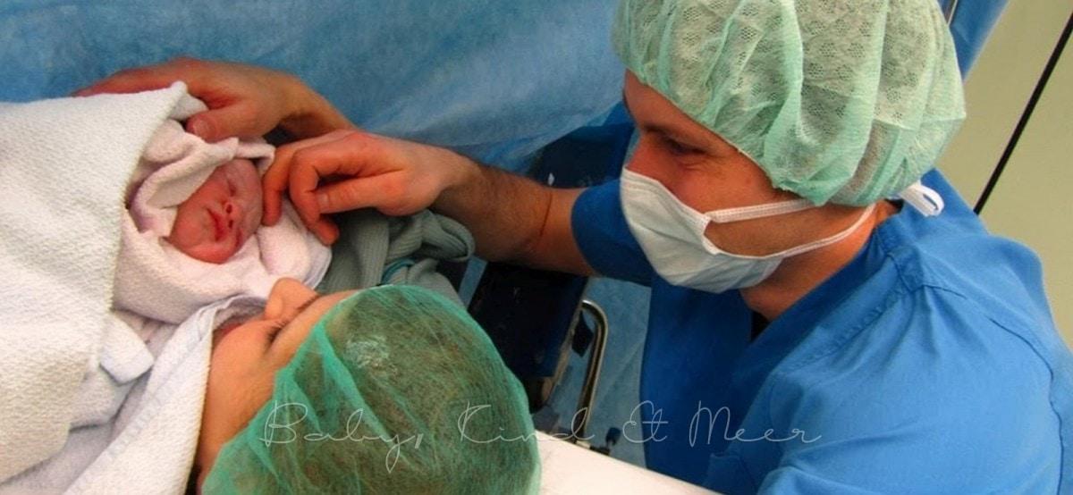 Geburt per Kaiserschnitt