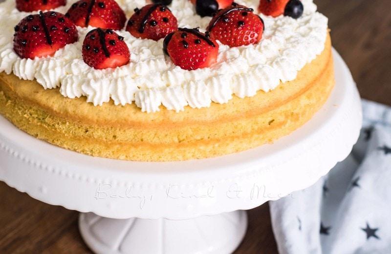 Sommerlicher Marienkafer Kuchen Mit Erdbeeren Rezepte Fur Familien