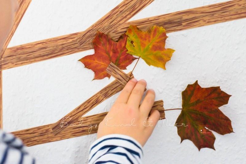 Basteln im Herbst Masking Tape Herbstbaum 2