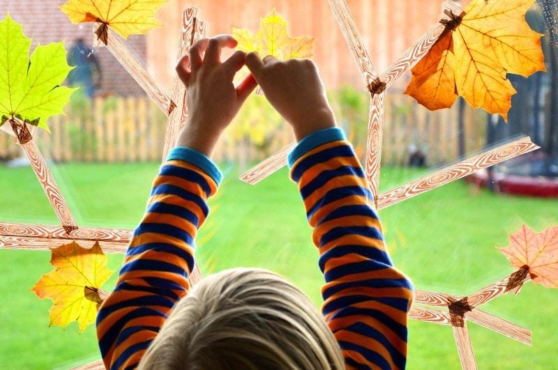 Basteln im Herbst Masking Tape Herbstbaum 4