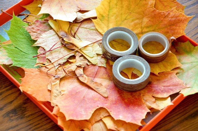 Basteln im Herbst Masking Tape Herbstbaum 6