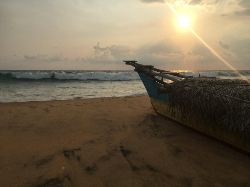 Familie auf Weltreise Sri Lanka Strand