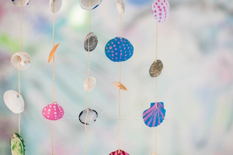 Muschel Windspiel DIY mit Kindern 14