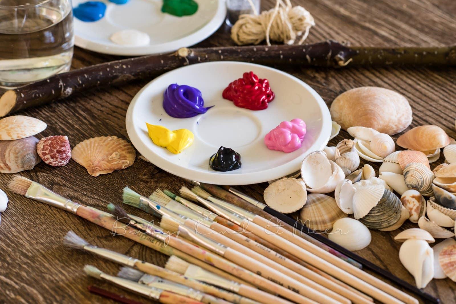 Muschel Windspiel DIY mit Kindern 2