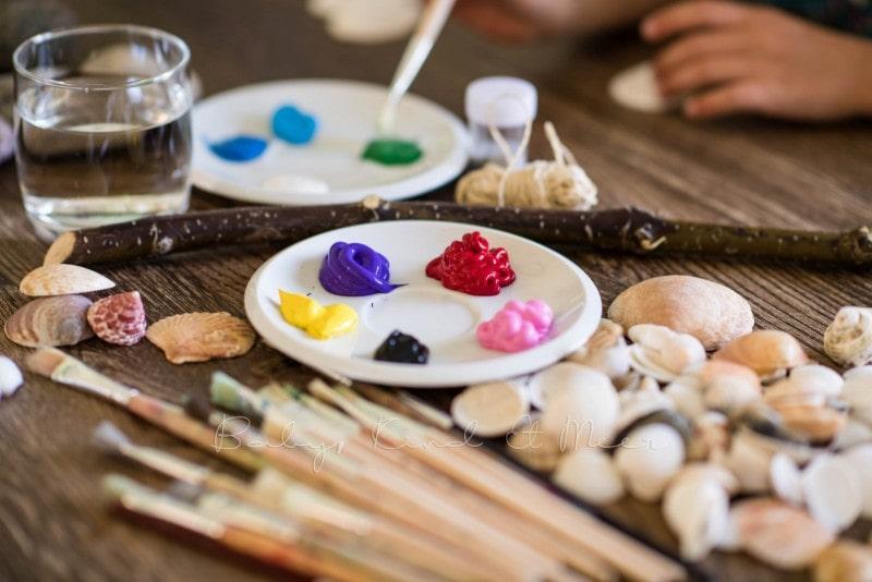 Muschel Windspiel DIY mit Kindern 3