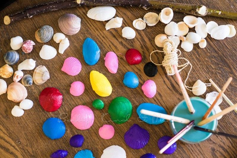 Muschel Windspiel DIY mit Kindern 6