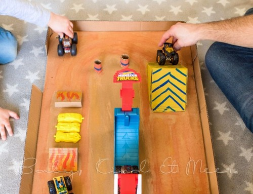 DIY: HOT WHEELS MONSTER TRUCKS ARENA