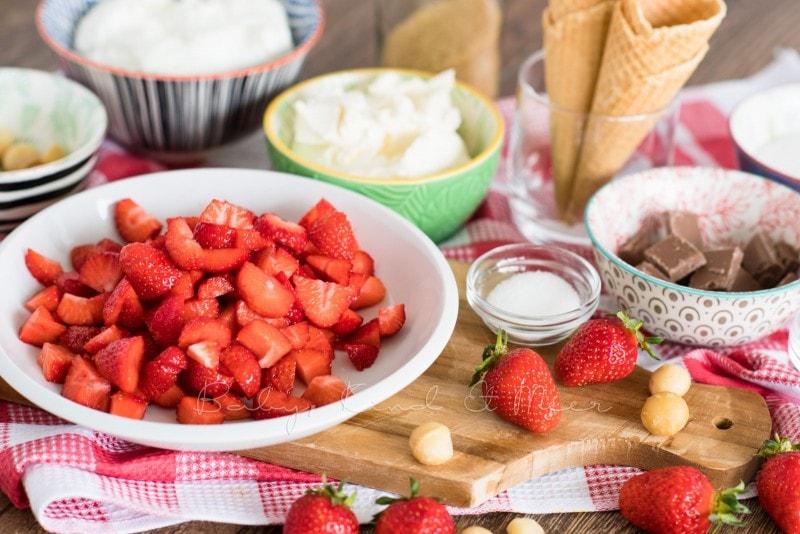 Erdbeer Mascarpone Eiswaffeln 1