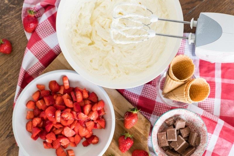 Erdbeer Mascarpone Eiswaffeln 2