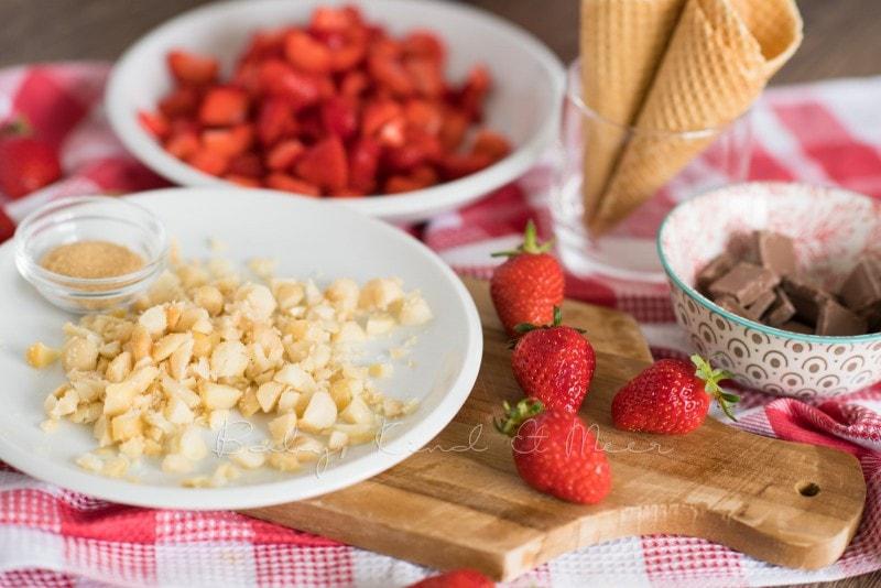 Erdbeer Mascarpone Eiswaffeln 3