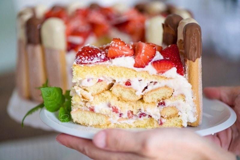 Erdbeer Tiramisu Torte Rezept 19