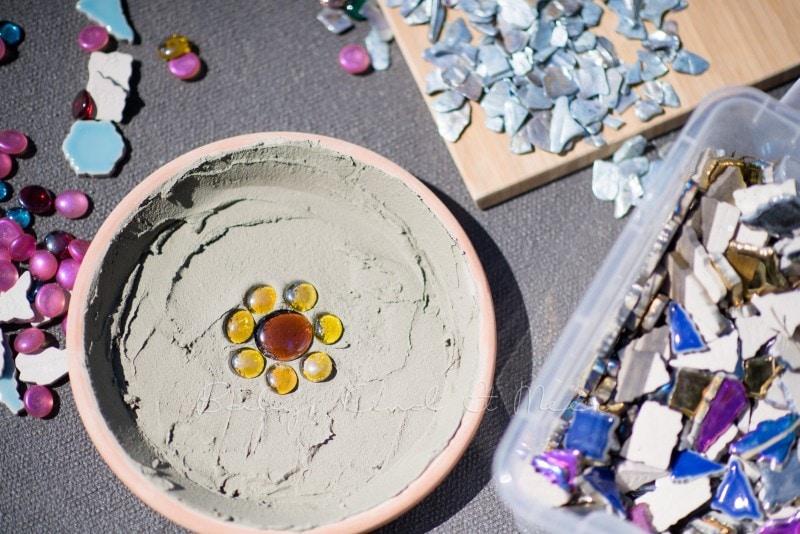 Mosaik Futterschalen 8
