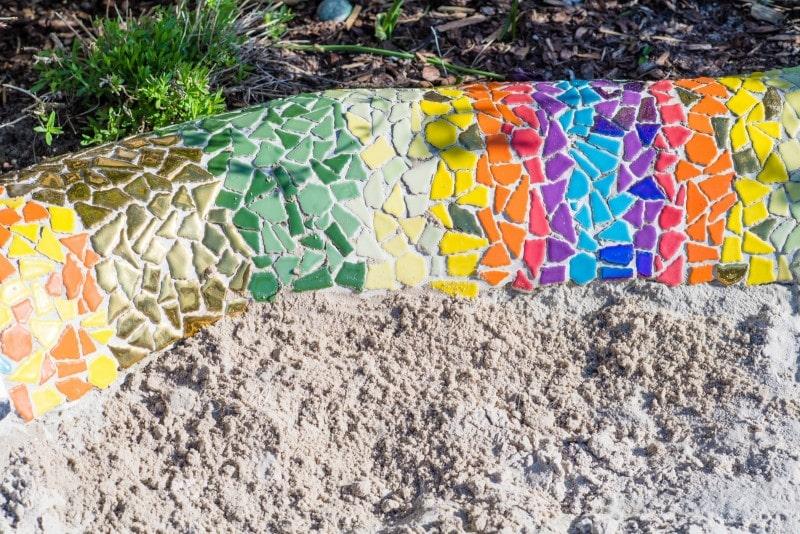 Mosaik Sandkasten Schlange 3