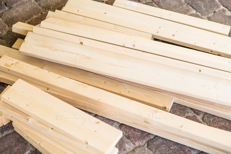 Matschtisch bauen Matschkueche DIY 1