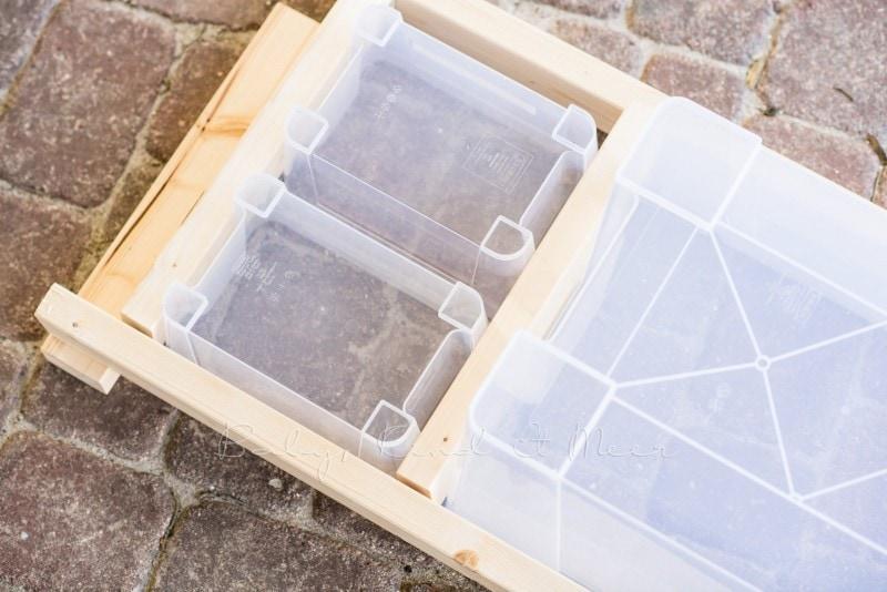 Matschtisch bauen Matschkueche DIY 27