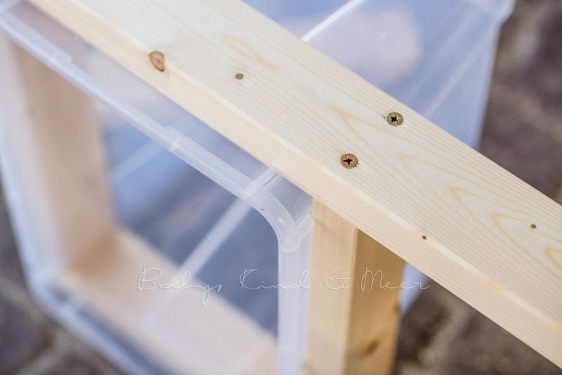 Matschtisch bauen Matschkueche DIY 7