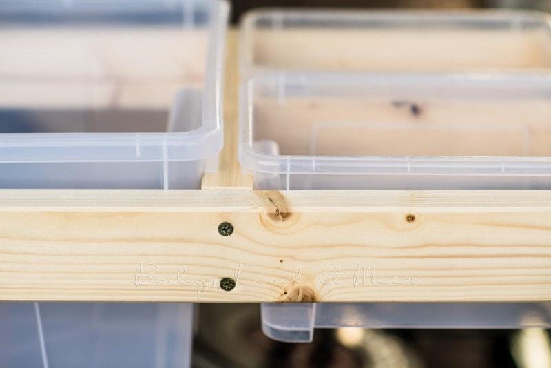 Matschtisch bauen Matschkueche DIY 8