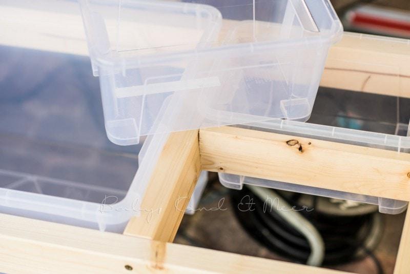 Matschtisch bauen Matschkueche DIY 9