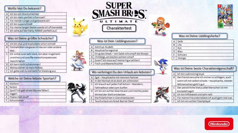 SuperSmashBrosUltimate Charaktertest