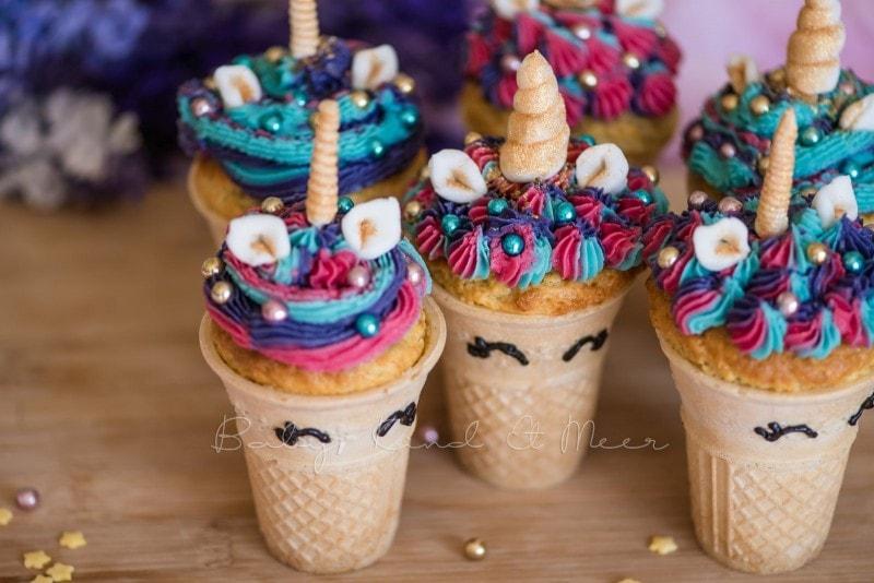 Einhorn Cupcakes Einhorn Muffins 9